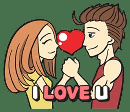 Couple in Love sticker #9073378