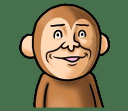 Noisy monkey(Happy new year 2016!) sticker #9090550