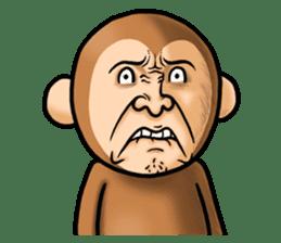 Noisy monkey(Happy new year 2016!) sticker #9090551