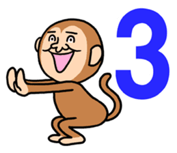 Noisy monkey(Happy new year 2016!) sticker #9090552
