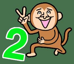 Noisy monkey(Happy new year 2016!) sticker #9090553