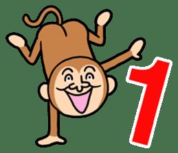 Noisy monkey(Happy new year 2016!) sticker #9090554