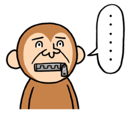 Noisy monkey(Happy new year 2016!) sticker #9090579