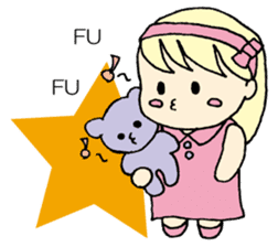 always need together.~Bear and girl~ sticker #9094026