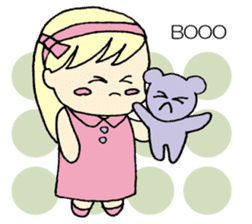 always need together.~Bear and girl~ sticker #9094034