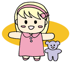 always need together.~Bear and girl~ sticker #9094035