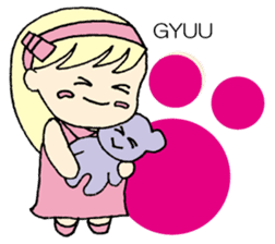 always need together.~Bear and girl~ sticker #9094041