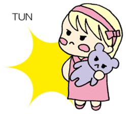 always need together.~Bear and girl~ sticker #9094042