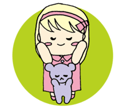 always need together.~Bear and girl~ sticker #9094043