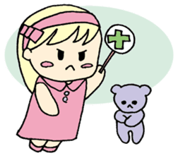 always need together.~Bear and girl~ sticker #9094053