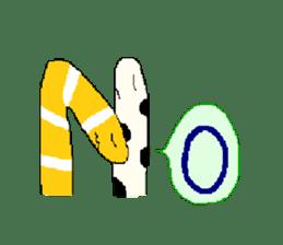 spotted garden eels and nishiki ells sticker #9097425