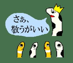 spotted garden eels and nishiki ells sticker #9097450