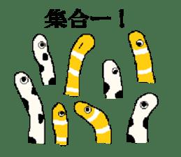 spotted garden eels and nishiki ells sticker #9097457