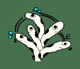 spotted garden eels and nishiki ells sticker #9097459