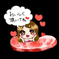 nikujoshi Sticker