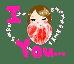 nikujoshi Sticker sticker #9099829
