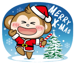 SARU CHAN -Merry Christmas sticker #9104649