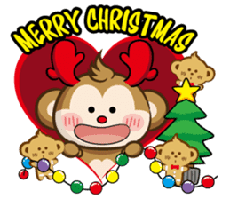SARU CHAN -Merry Christmas sticker #9104650