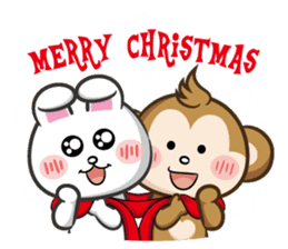 SARU CHAN -Merry Christmas sticker #9104651