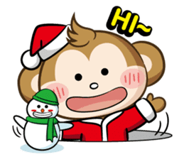 SARU CHAN -Merry Christmas sticker #9104652