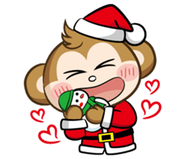 SARU CHAN -Merry Christmas sticker #9104653
