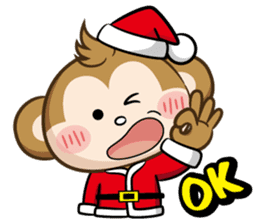 SARU CHAN -Merry Christmas sticker #9104655