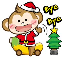 SARU CHAN -Merry Christmas sticker #9104656