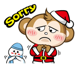 SARU CHAN -Merry Christmas sticker #9104659