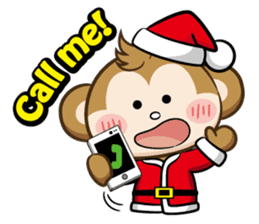 SARU CHAN -Merry Christmas sticker #9104662