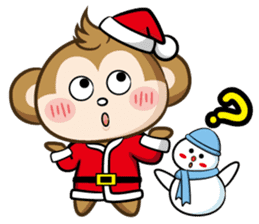 SARU CHAN -Merry Christmas sticker #9104663