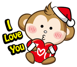 SARU CHAN -Merry Christmas sticker #9104664