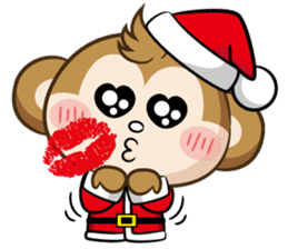 SARU CHAN -Merry Christmas sticker #9104665