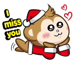 SARU CHAN -Merry Christmas sticker #9104666