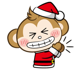 SARU CHAN -Merry Christmas sticker #9104668