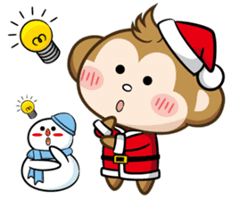 SARU CHAN -Merry Christmas sticker #9104669