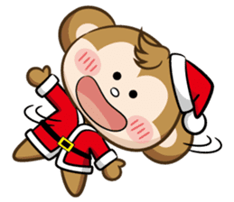 SARU CHAN -Merry Christmas sticker #9104672