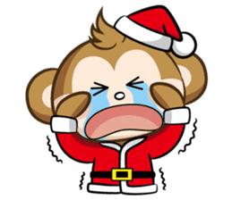 SARU CHAN -Merry Christmas sticker #9104673