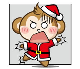 SARU CHAN -Merry Christmas sticker #9104676