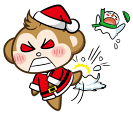 SARU CHAN -Merry Christmas sticker #9104677