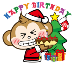 SARU CHAN -Merry Christmas sticker #9104680
