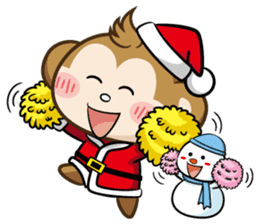 SARU CHAN -Merry Christmas sticker #9104681
