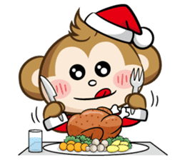 SARU CHAN -Merry Christmas sticker #9104682