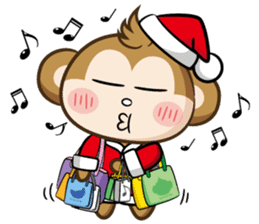 SARU CHAN -Merry Christmas sticker #9104683