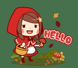 Little Red Riding Hood &  Wolf sticker #9105208