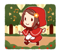 Little Red Riding Hood &  Wolf sticker #9105210