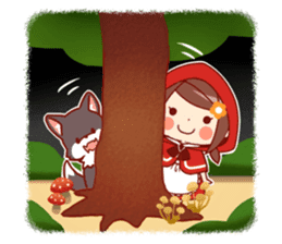 Little Red Riding Hood &  Wolf sticker #9105211