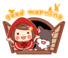 Little Red Riding Hood &  Wolf sticker #9105212