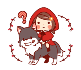 Little Red Riding Hood &  Wolf sticker #9105219