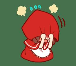 Little Red Riding Hood &  Wolf sticker #9105220