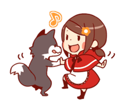 Little Red Riding Hood &  Wolf sticker #9105223